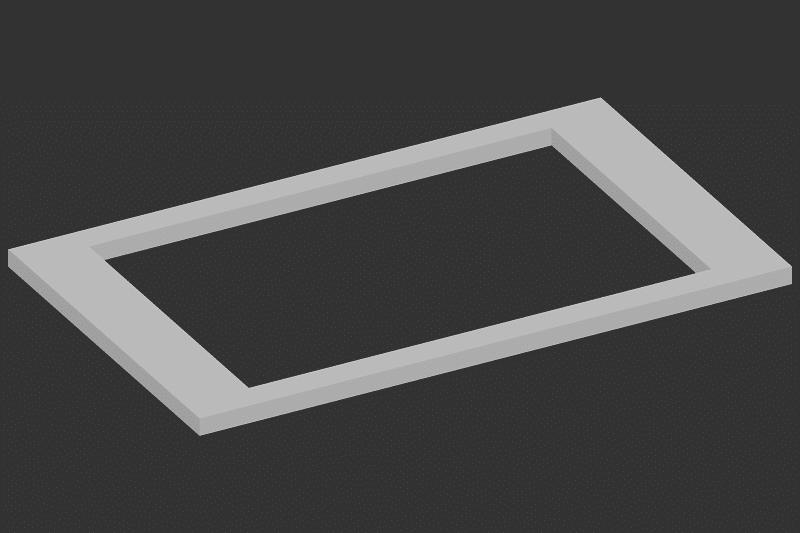 Ausschnitt für Kochfeld, rechteckig bis 50 x 75 cm