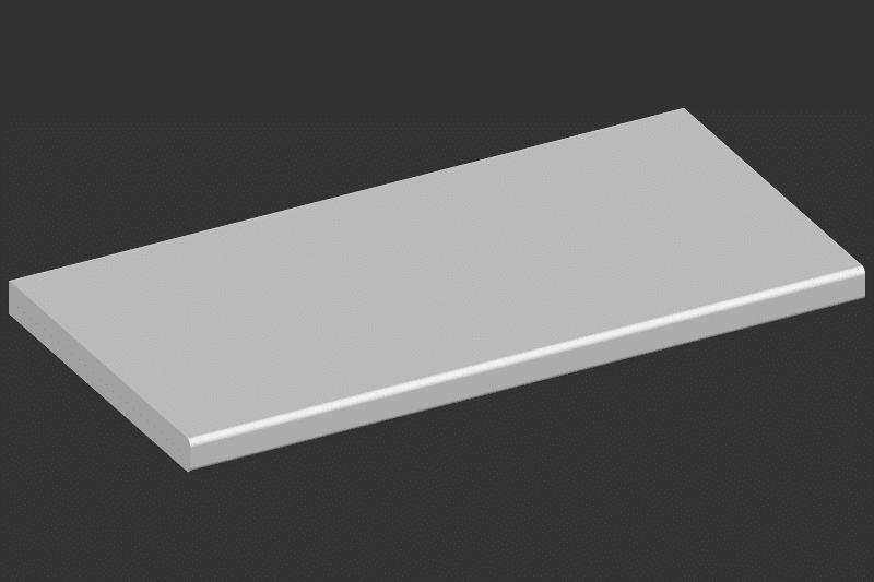 Sichtkante mit Bleistiftrundung